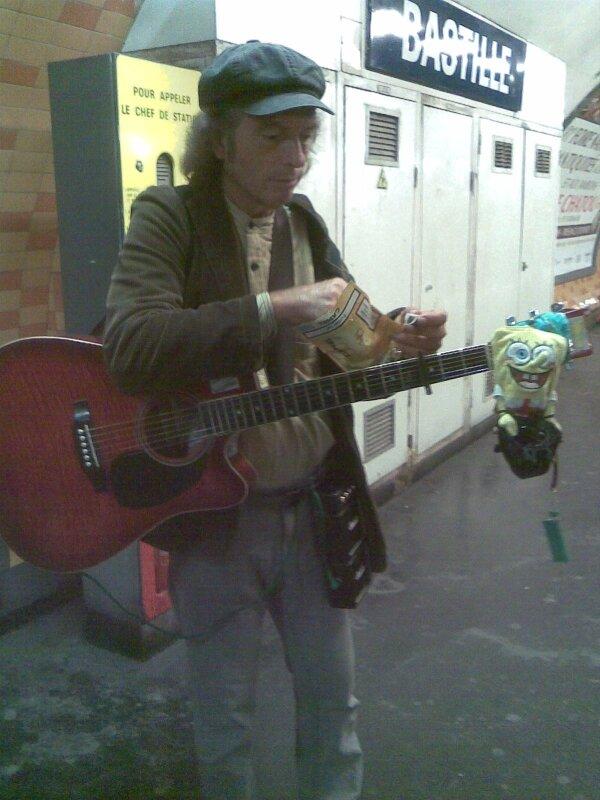 Collègue du CdB, guitare avec son pote