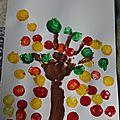 Peinture aux bouchons