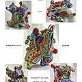 page 13 2013-TOTUM 67 SCHMIMBLOCK'S peuplade 16cm x 14,5cm gouache T7 sur argile