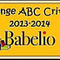 challenge ABC Babelio 2013