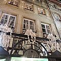 Fenêtres et façades de noël