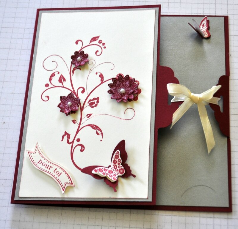 Carte Pop Up Bouquet De Fleurs Les Ateliers Stampin Up De Catherine