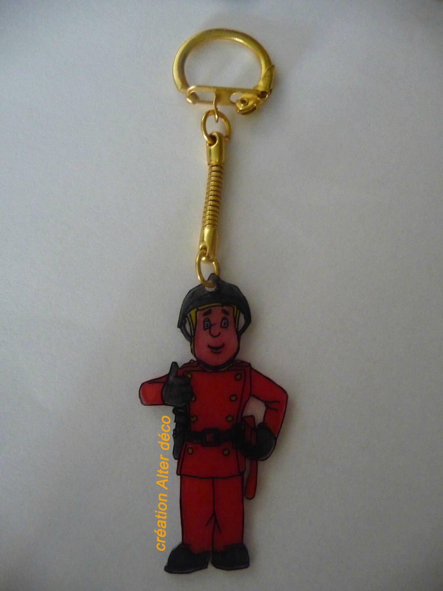 pompier porte clé plastique dingue