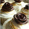 Cupcakes vanille avec meringue italienne