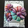 ♥ cassilde ♥ broche textile bohème violet turquoise - les yoyos de calie