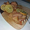 <b>Brochettes</b> de filet de poulet fermier au citron jaune et aux 5 céréales