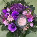 Bouquet rond avec Anémones et Hortensia