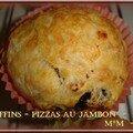 Muffins - pizzas au jambon
