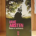 Raisons et sentiments, jane austen