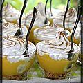 P'tites verrines tarte au citron meringuées