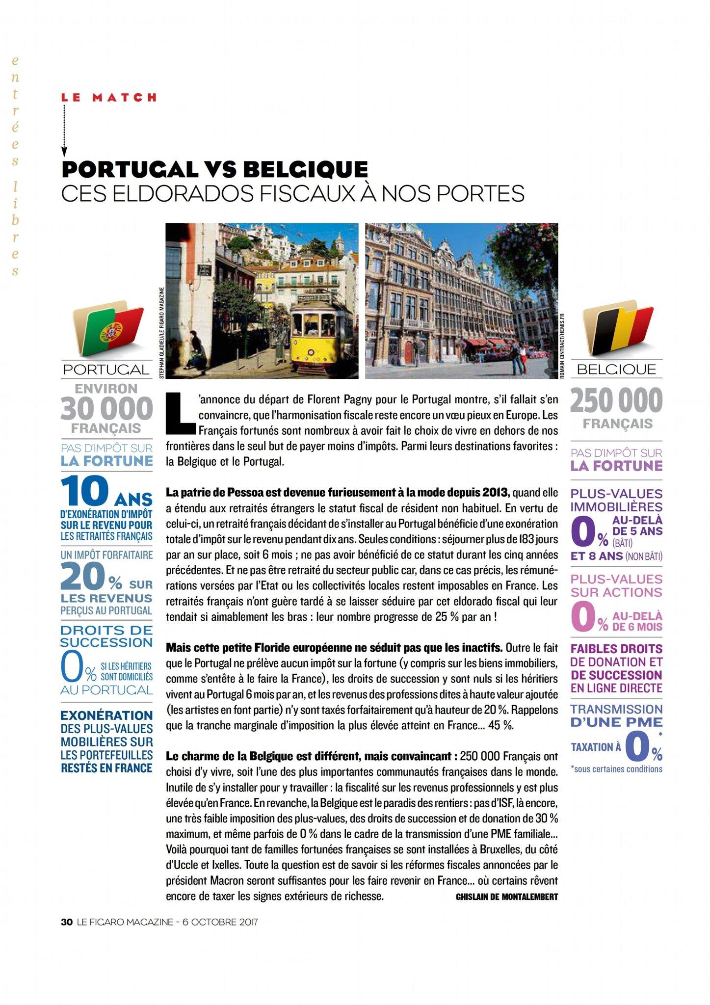 portugale vs belgique impôt