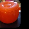 Pouf plastique orange
