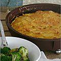 Gâteau de pommes de terre, navets & chorizo