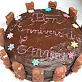 Gâteau damier chocolat - vanille