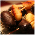 Brochette boudin-gnocchi