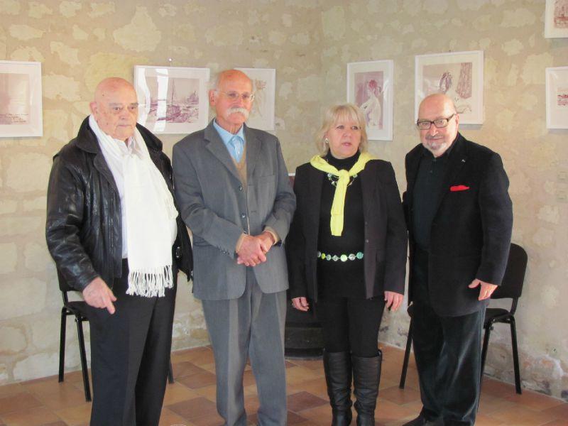 François Le Menac'h, Jean Hardion, Maëva Mabileau, Serge Caillet