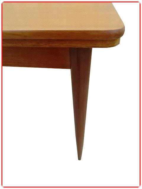Table vintage teck avec rallonges
