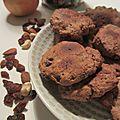 Cookies aux fruits secs (sans oeuf/sans beurre/<b>végétalien</b>/purée de pommes)
