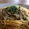 Spaghettis frais aux cèpes