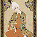 Young Prince, mid-16th century. Signed by Muhammad Haravi, Safavid period. <b>Herat</b>, Afghanistan