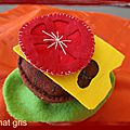 <b>felt</b> <b>food</b> : hamburger en feutrine