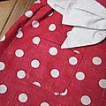 Manteau MARGUERITE - Manteau trapèze à pli creux dans le dos et double boutonnage devant - Il est également fermé par un joli noeud très féminin - Col rond (6)