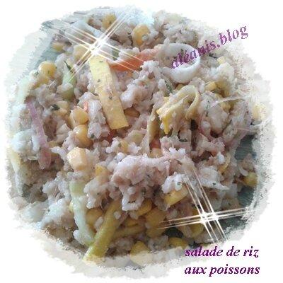 salade de riz aux poissons
