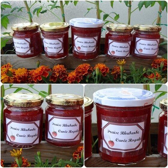 Confitures fraises rubharbe
