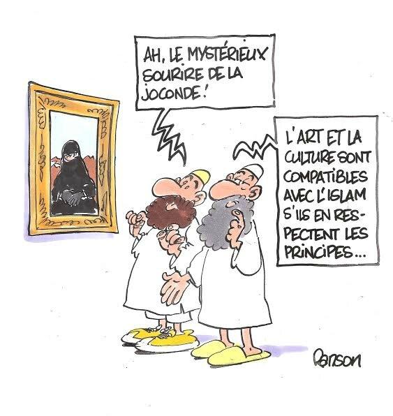 islam humour burka louvre