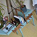 Travailleuse scandi-vintage bleu sarcelle