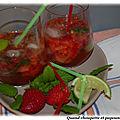 Mojito fraise et basilic