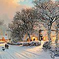 village-enneigee,-route-enneigee,-neige,-gens,-arbres-enneiges,-dessin-anime,-thomas-kinkade-149523