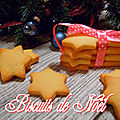 Biscuits de noël - sablés au beurre - famous french christmas cookies very easy - facile et rapide