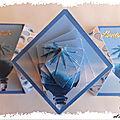 ARTicle : une carte avec avancée à <b>imprimer</b> et son motif pyramide 3D en spirale
