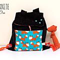 sac à dos maternelle personnalisable chocolat renards