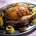🎄 calendrier de l'avent 2015 #24 - chapon aux marrons, farce à la truffe, pommes au four et compote de cranberries