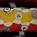 Housse de <b>coussin</b> - tissu japonais - modèle de création - réversible lin naturel -
