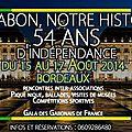 Fête de l'indépendance du gabon à bordeaux par le cgf (conseil des gabonais de france)