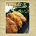 Croquettes aux <b>crevettes</b> (cuisson au four)
