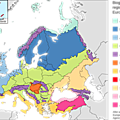 Biogeographical regions of Europe europe climat