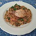 Riz juteux au poulet