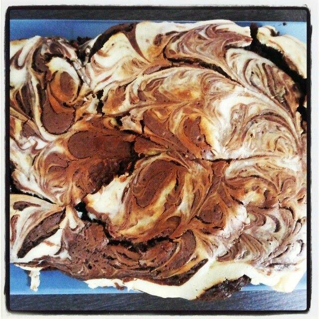 Brownie marbré façon cheesecake de Caro