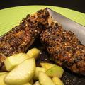 Poulet en croûte de sésame et wasabi