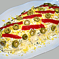 Salade russe traditionnelle maison - Ensaladilla rusa casera