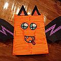 <b>Chauve</b>-souris en 3D en papier pour Halloween