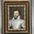 Ecole Française du <b>XVIème</b> <b>siècle</b>, « Homme en buste au pourpoint bleu »