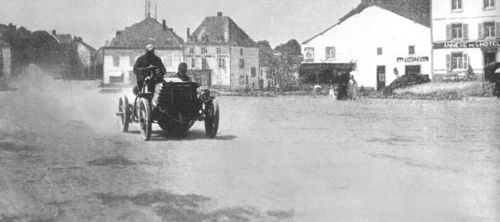 1901 paris-berlin - paul chaucard (panhard) 11th