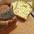 Cake saumon, citrons et graines de pavot