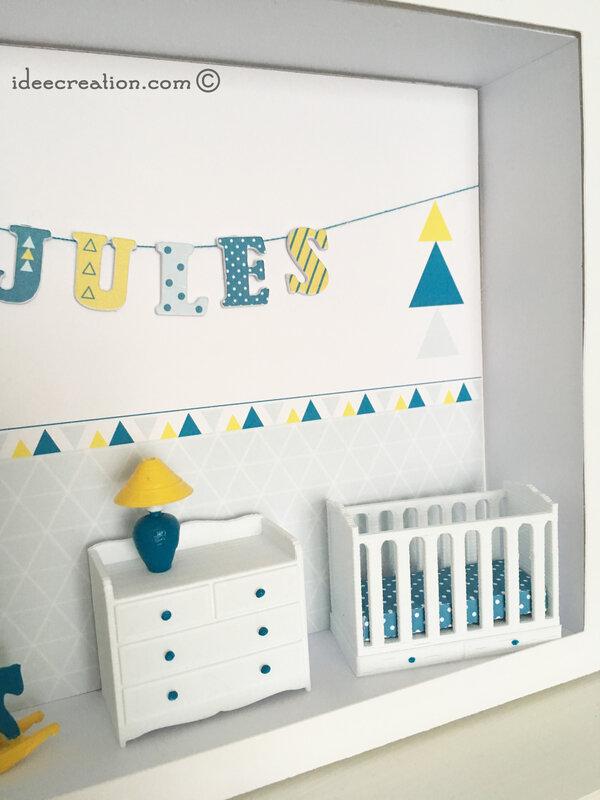Cadre prenom bebe vitrine miniature 3