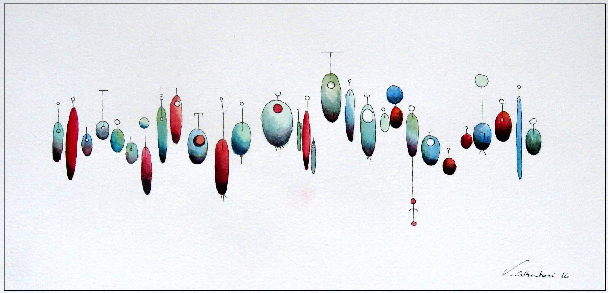 aquarelle abstraite artiste peintre française paris